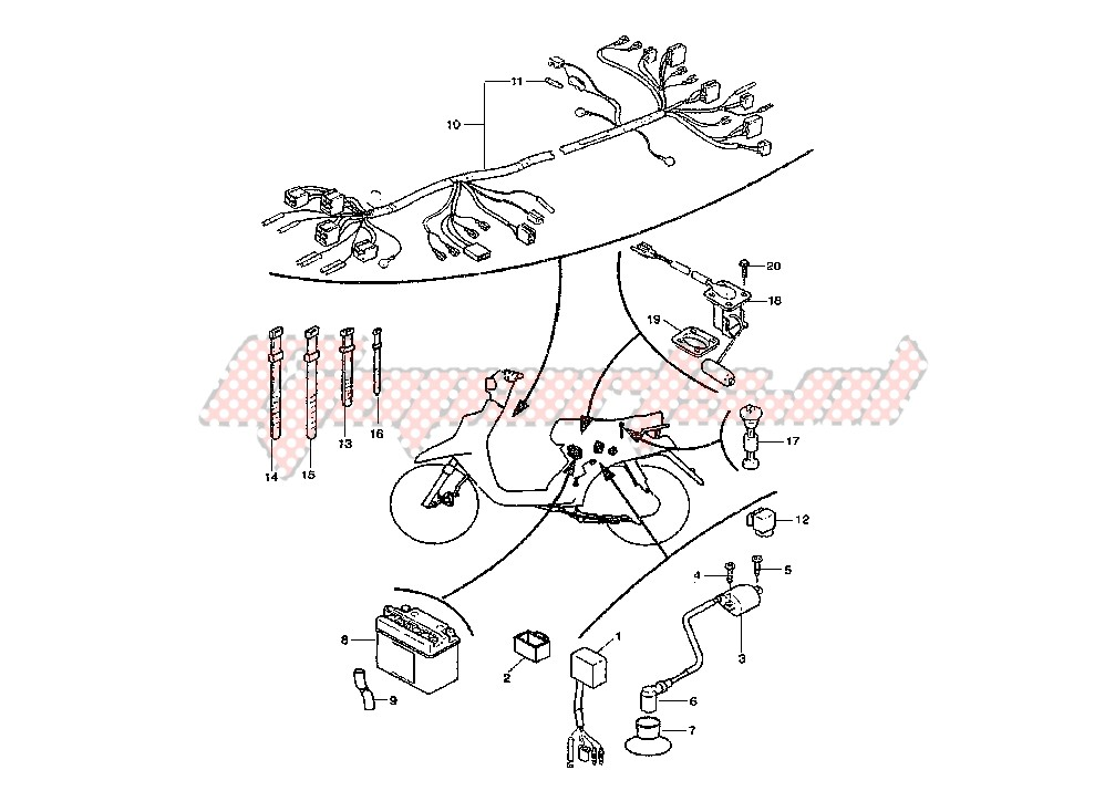 yamaha riva 125 wiring schematic yamaha scooter wiring diagram wiring diagram schematic  yamaha scooter wiring diagram wiring