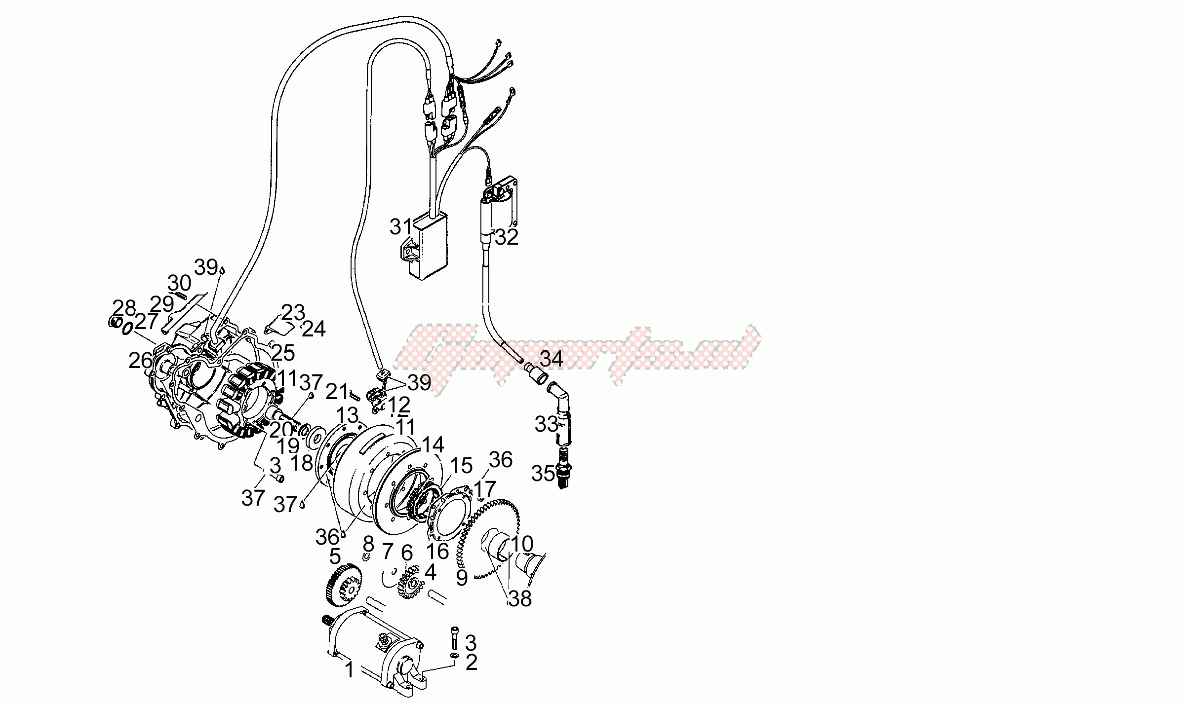 Engine-Cdi magneto assy N-S