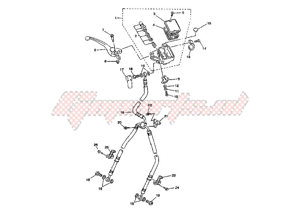 FRONT MASTER CYLINDER blueprint