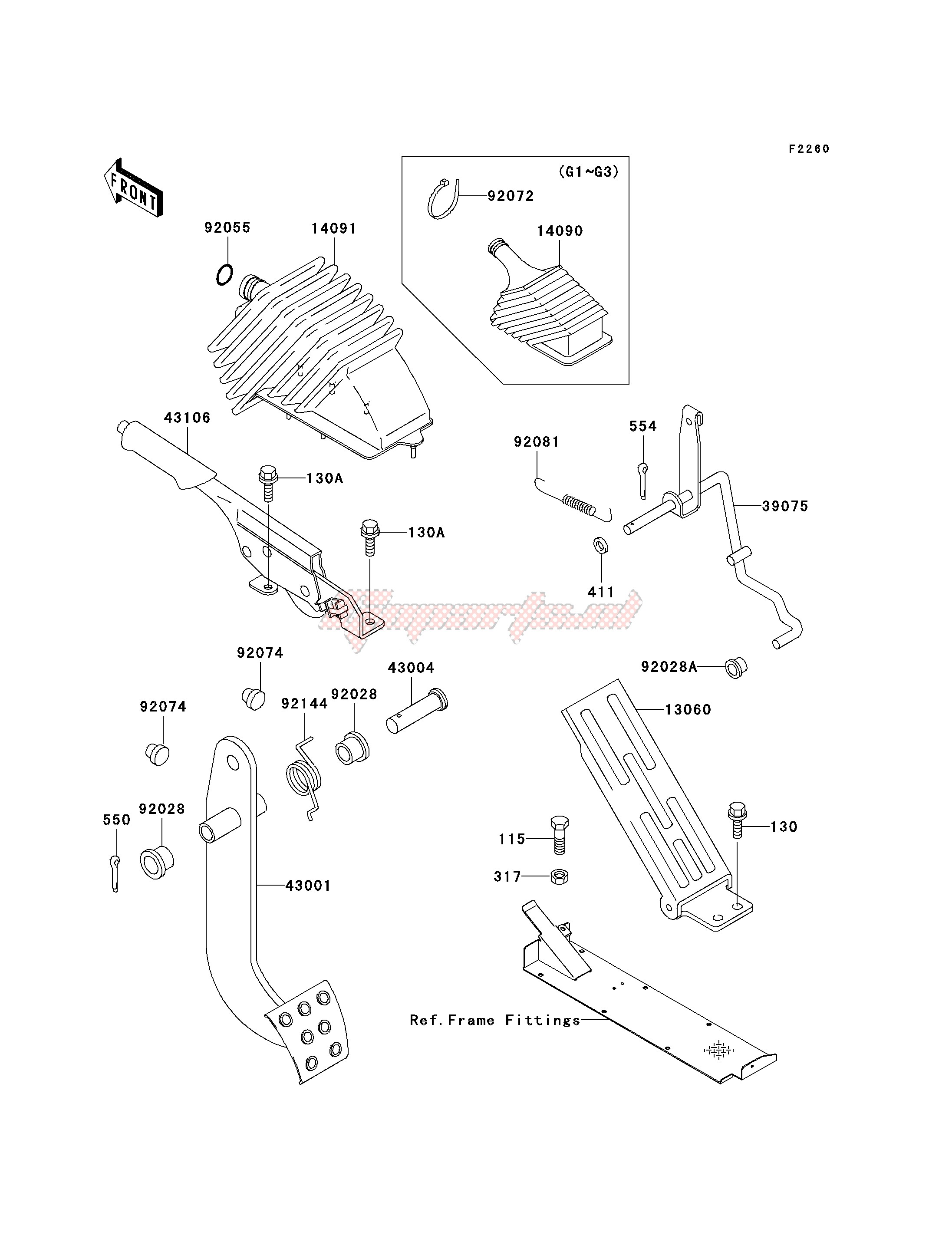 BRAKE PEDAL_THROTTLE LEVER image