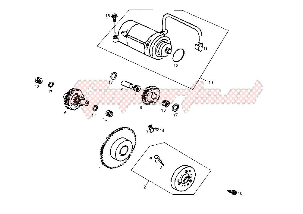 STARTING MOTOR image