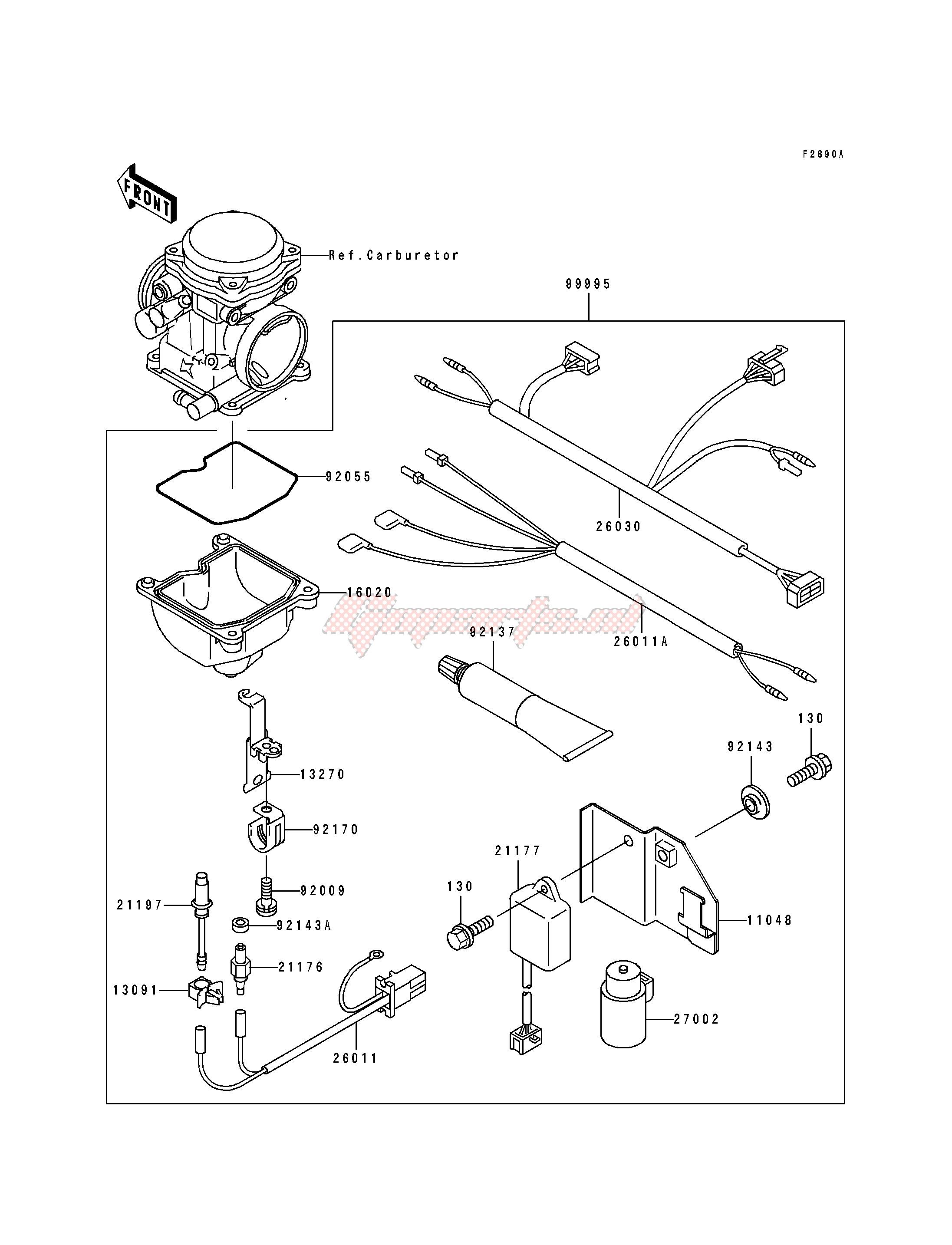 OPTIONAL PARTS-- CARBURETOR- --- KLF400-B1_B2- - image