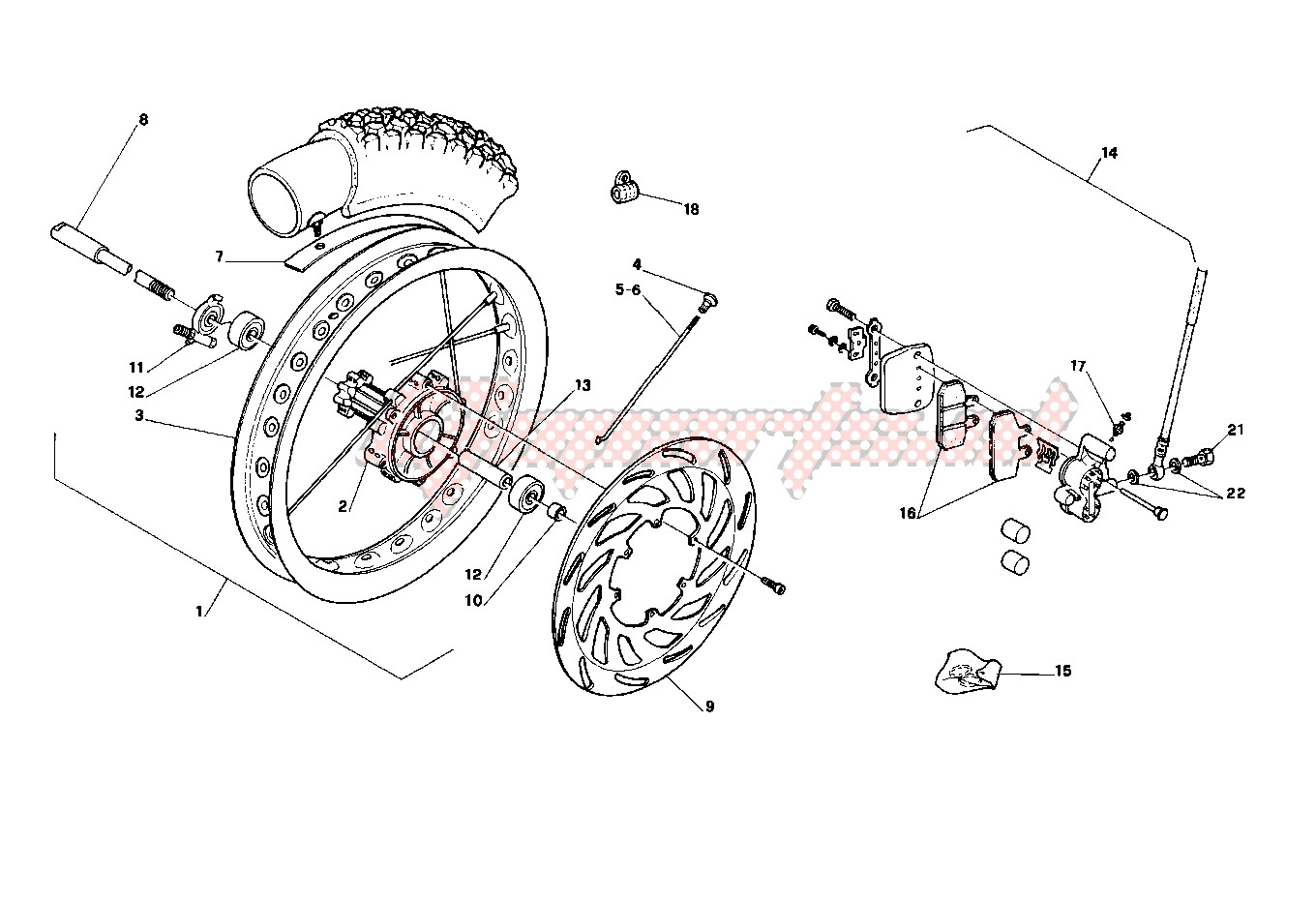 Suspensions - Wheels-Front wheel