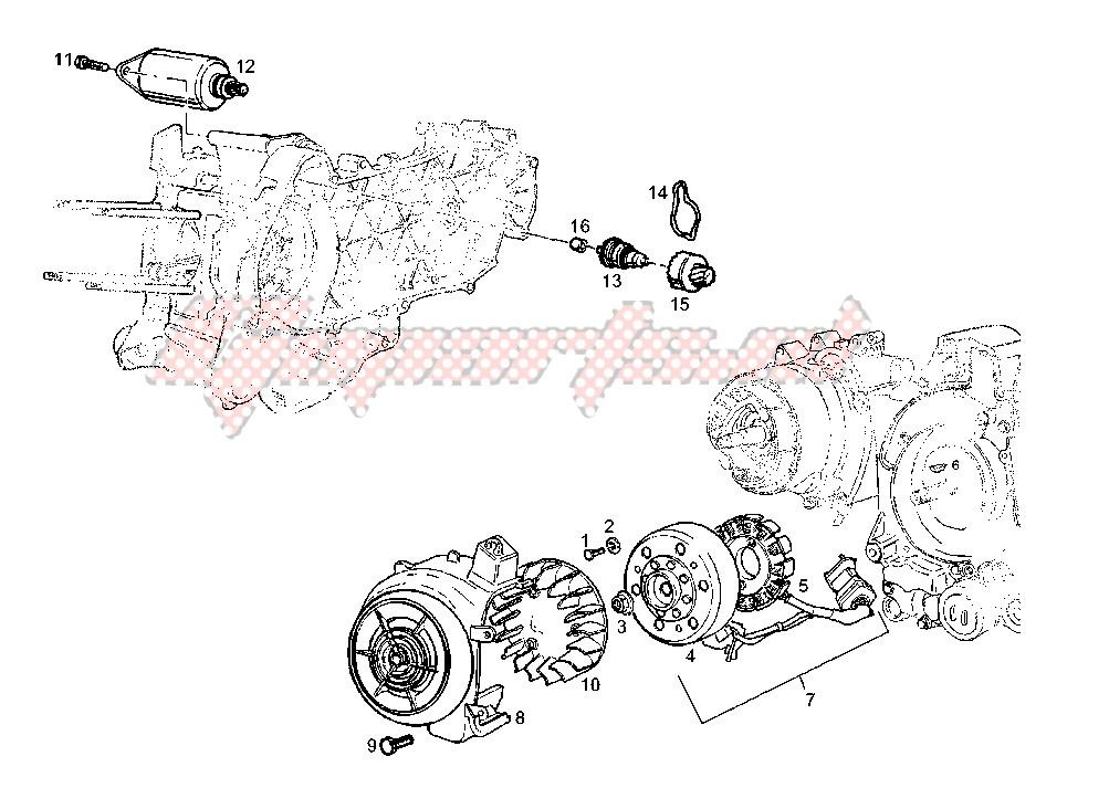 STARTING MOTOR-GENERATOR image