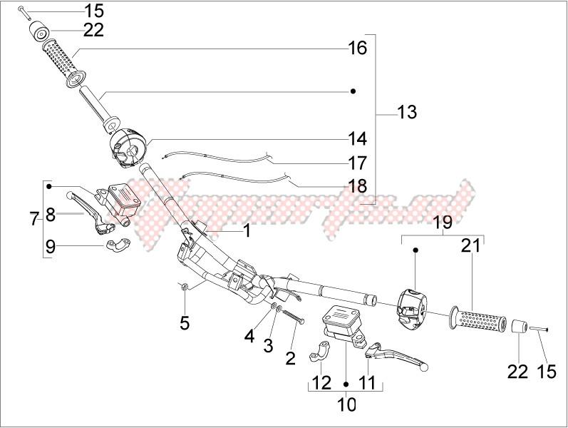 Handlebars - Master cilinder image