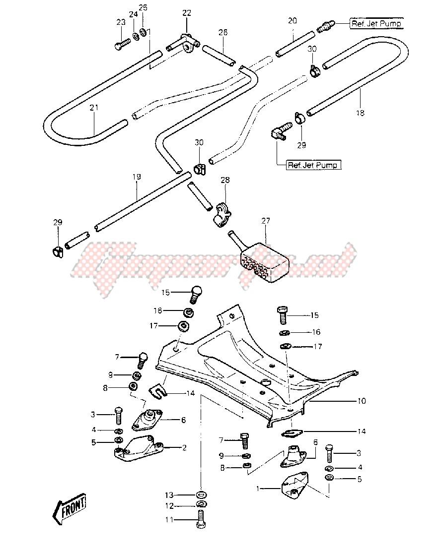 ENGINE MOUNT_COOLING & BILGE -- 84-86 JS440-A8_A9_A10- - image