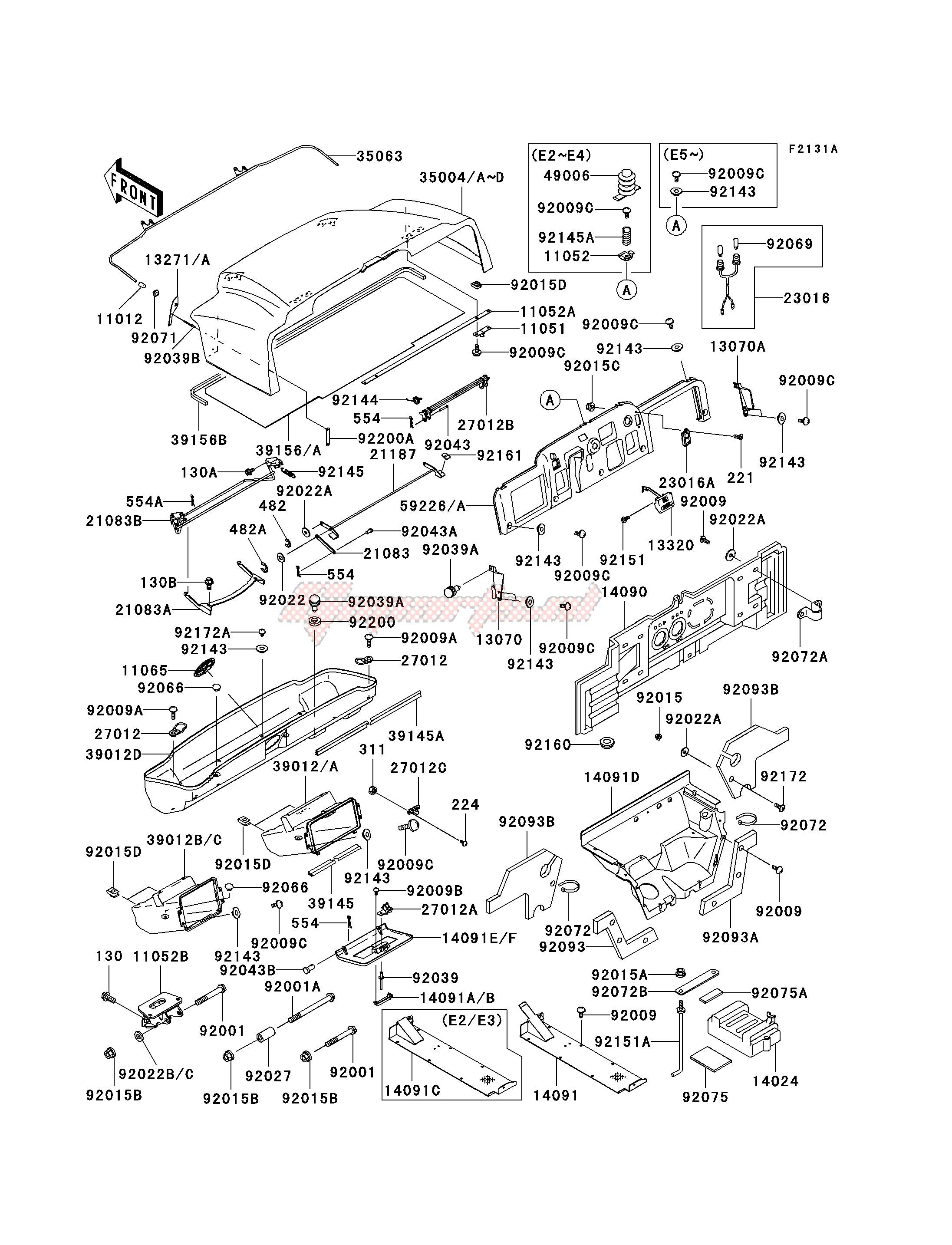 FRAME FITTINGS -- KAF620-E2 - E5- - image