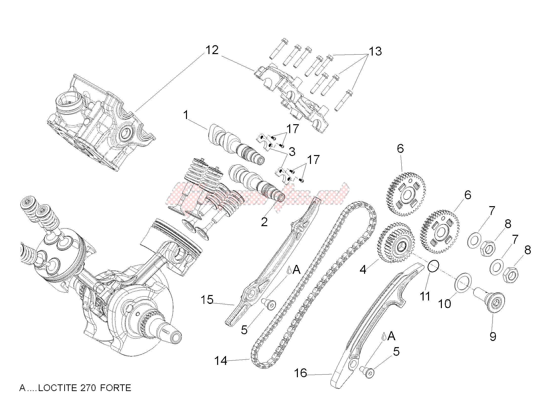 ENGINE-Rear cylinder timing system