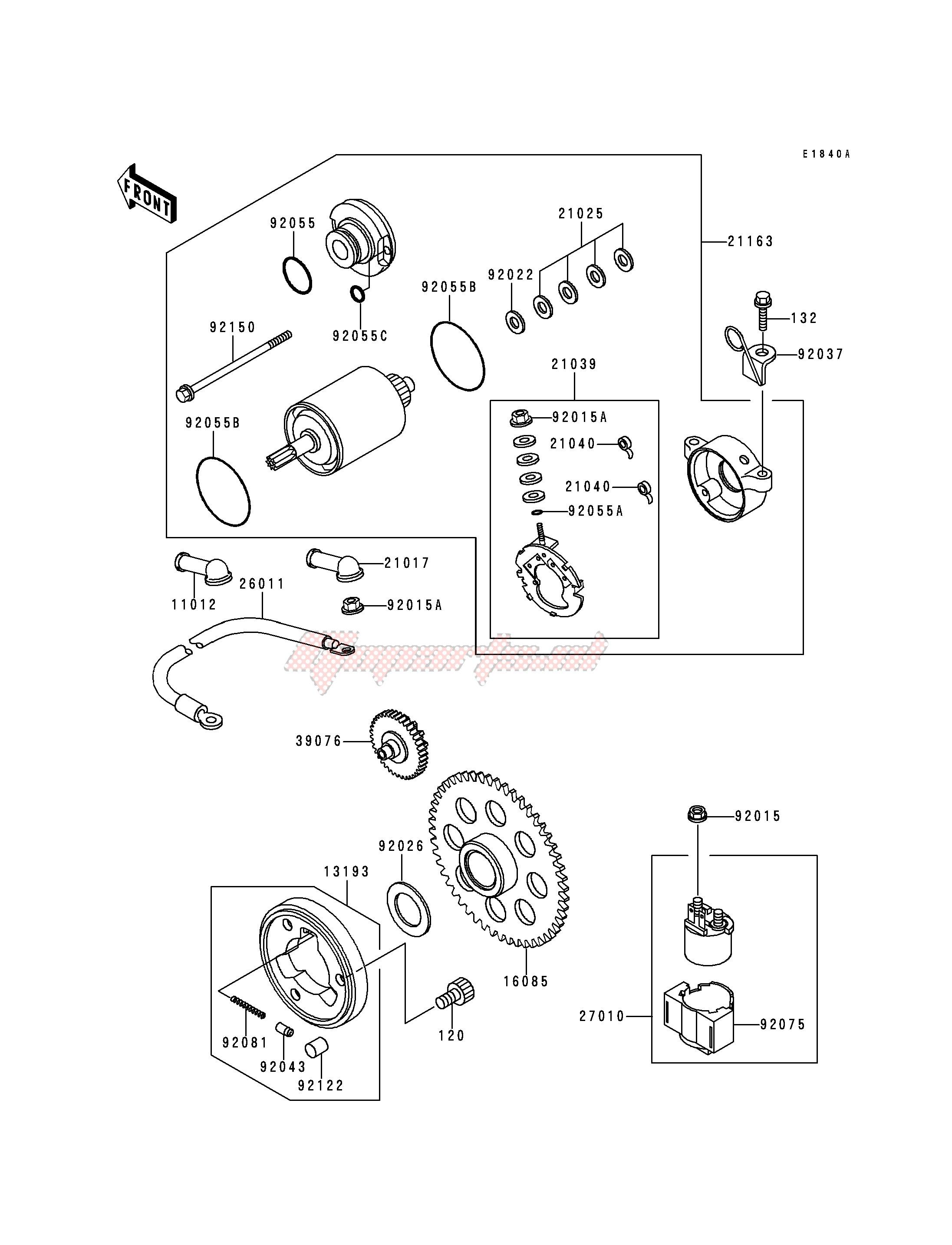 STARTER MOTOR-- KLF220-A9- - image