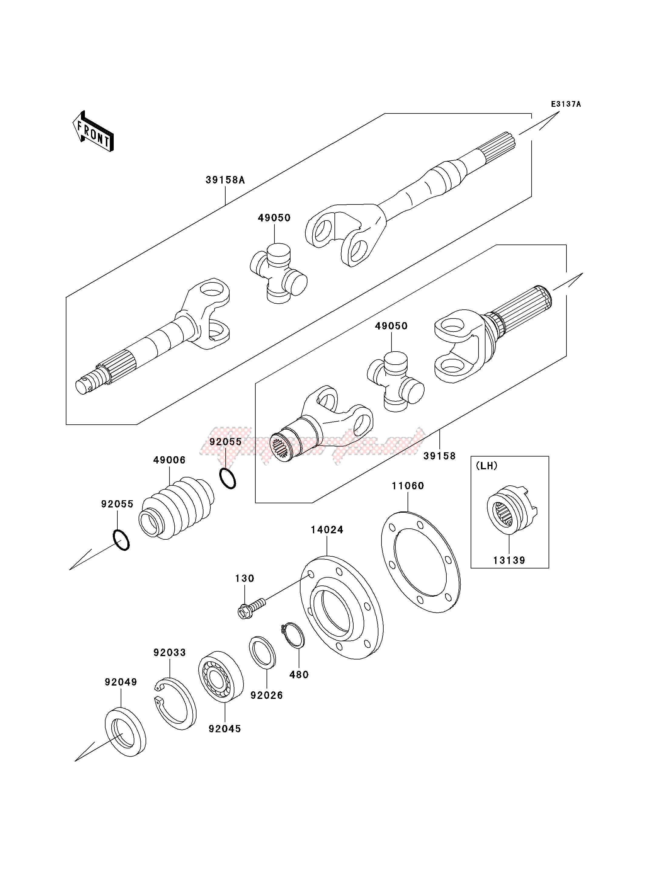 DRIVE SHAFT-REAR-- KAF620-E4_E5- - image