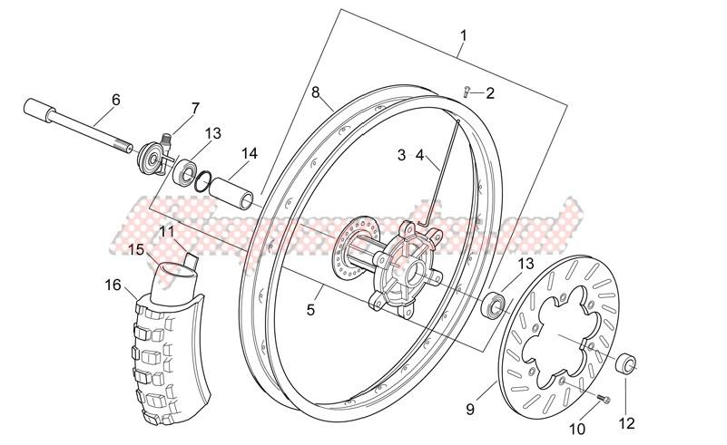 Front wheel - Enduro image