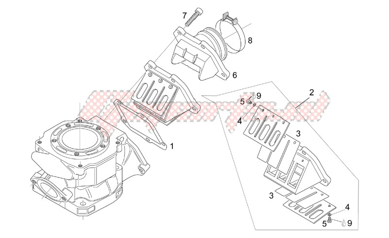 Engine-Carburettor flange