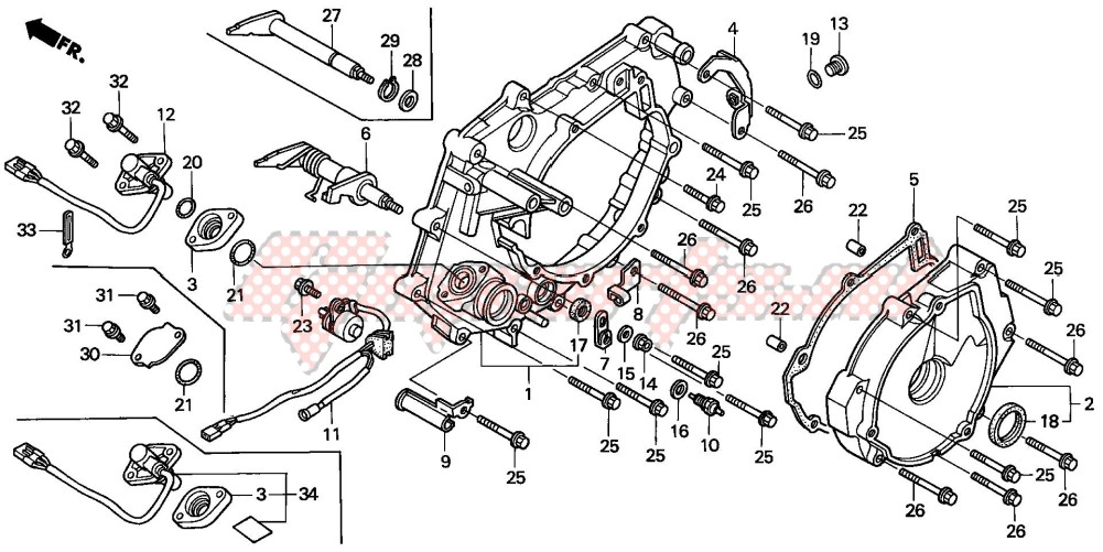 -REAR CRANKCASE COVER