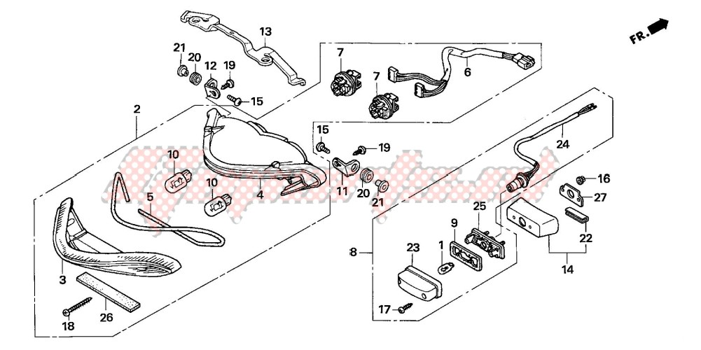 TAILLIGHT (CB600F3/4/5/6) blueprint