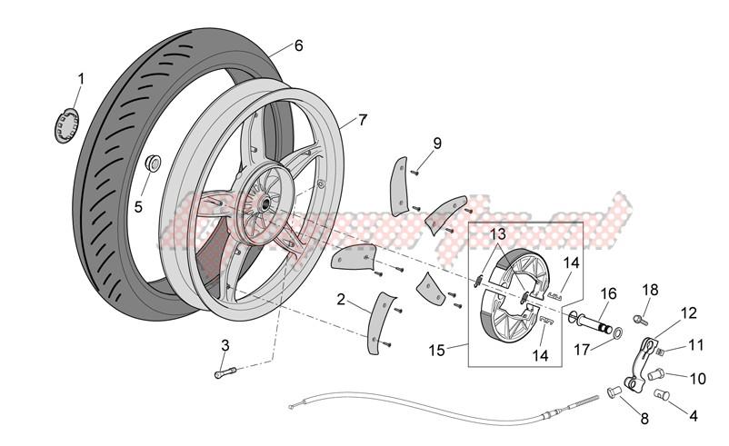 Rear wheel - drum brake image