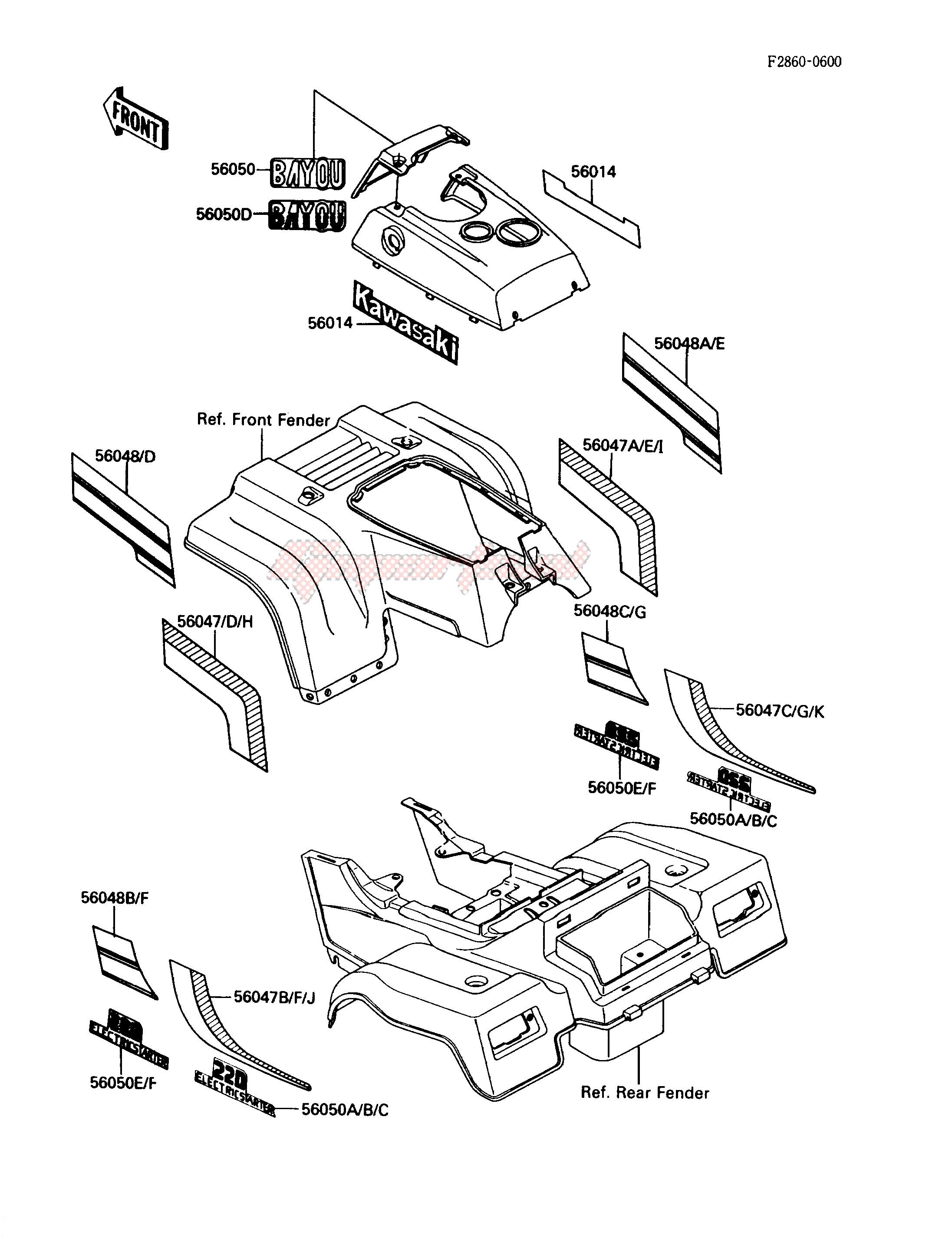 DECAL-- KLF220-A1_A2- - image