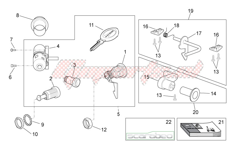 Decal - Lock hardware kit image
