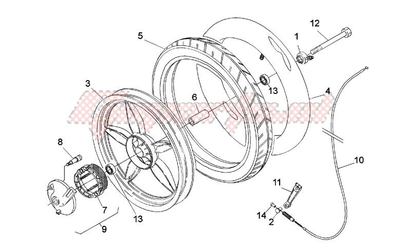 Front wheel - drum brake image