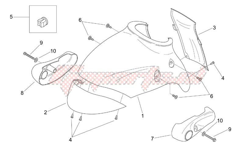 Front body - Front mudguard image