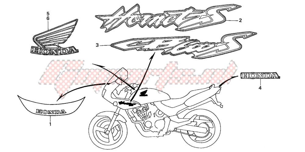 MARK (CB600F22) blueprint