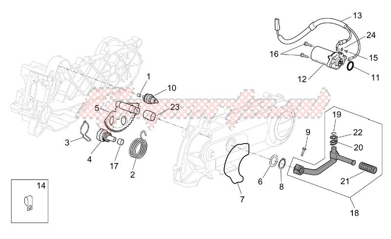 Kick-start gear - starter motor image