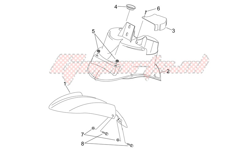 Frame-Front body - Front mudguard