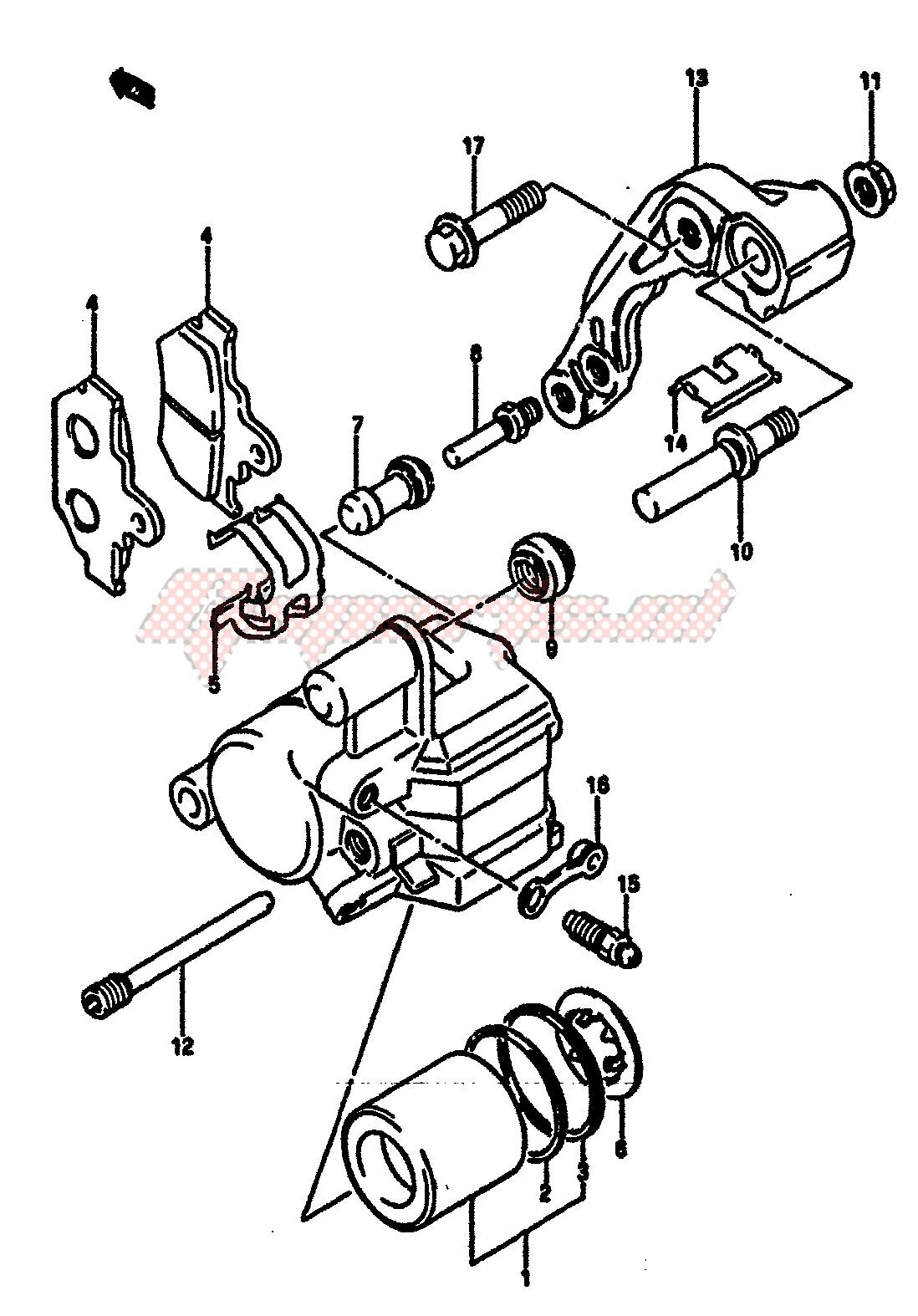 FRONT CALIPER (MODEL F) blueprint