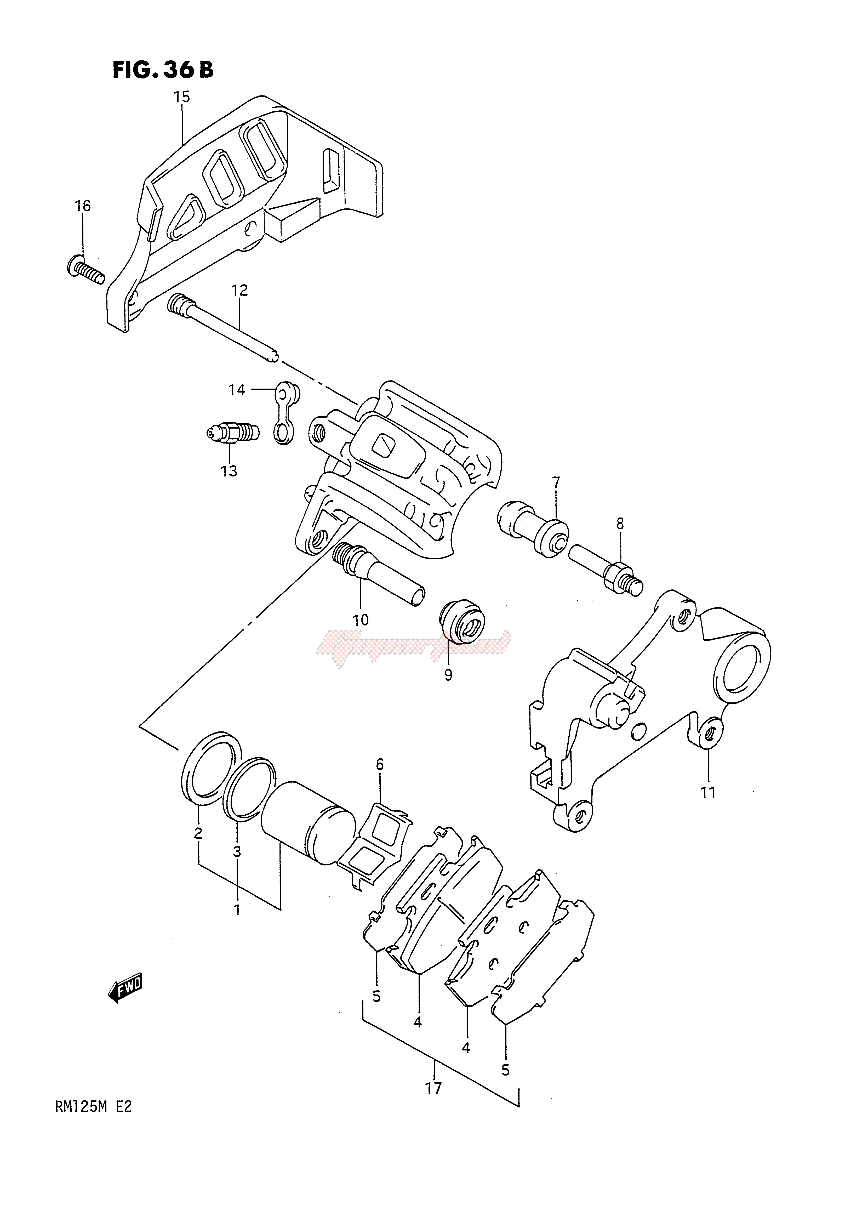 REAR CALIPERS (MODEL M) blueprint