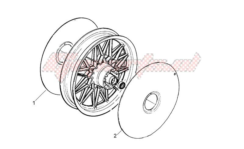 Rear wheel cap image