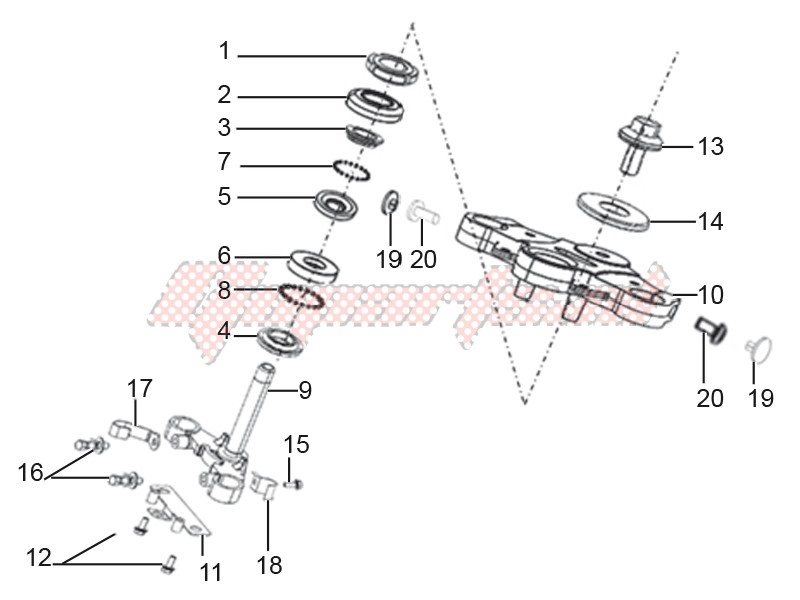 Steering stem assembly image