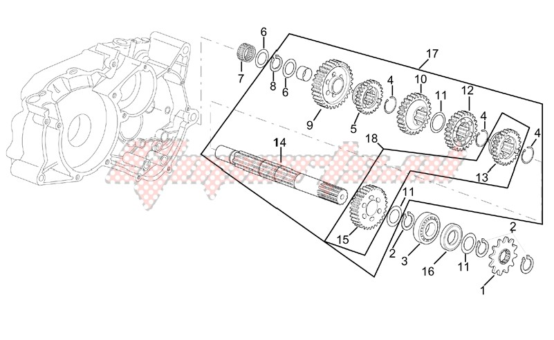 Gearbox driven shaft I image