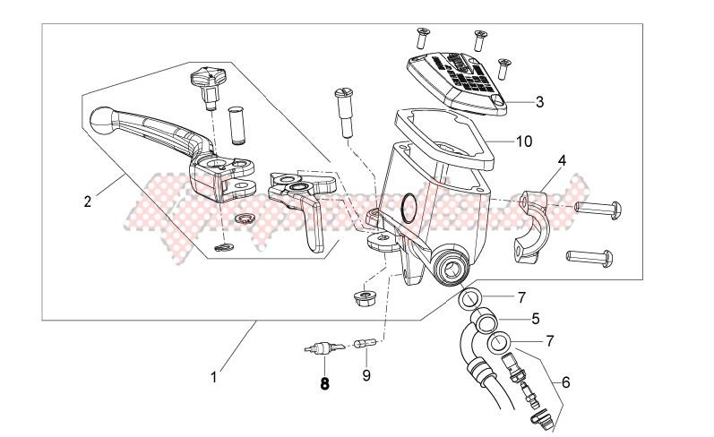 Front master cilinder image