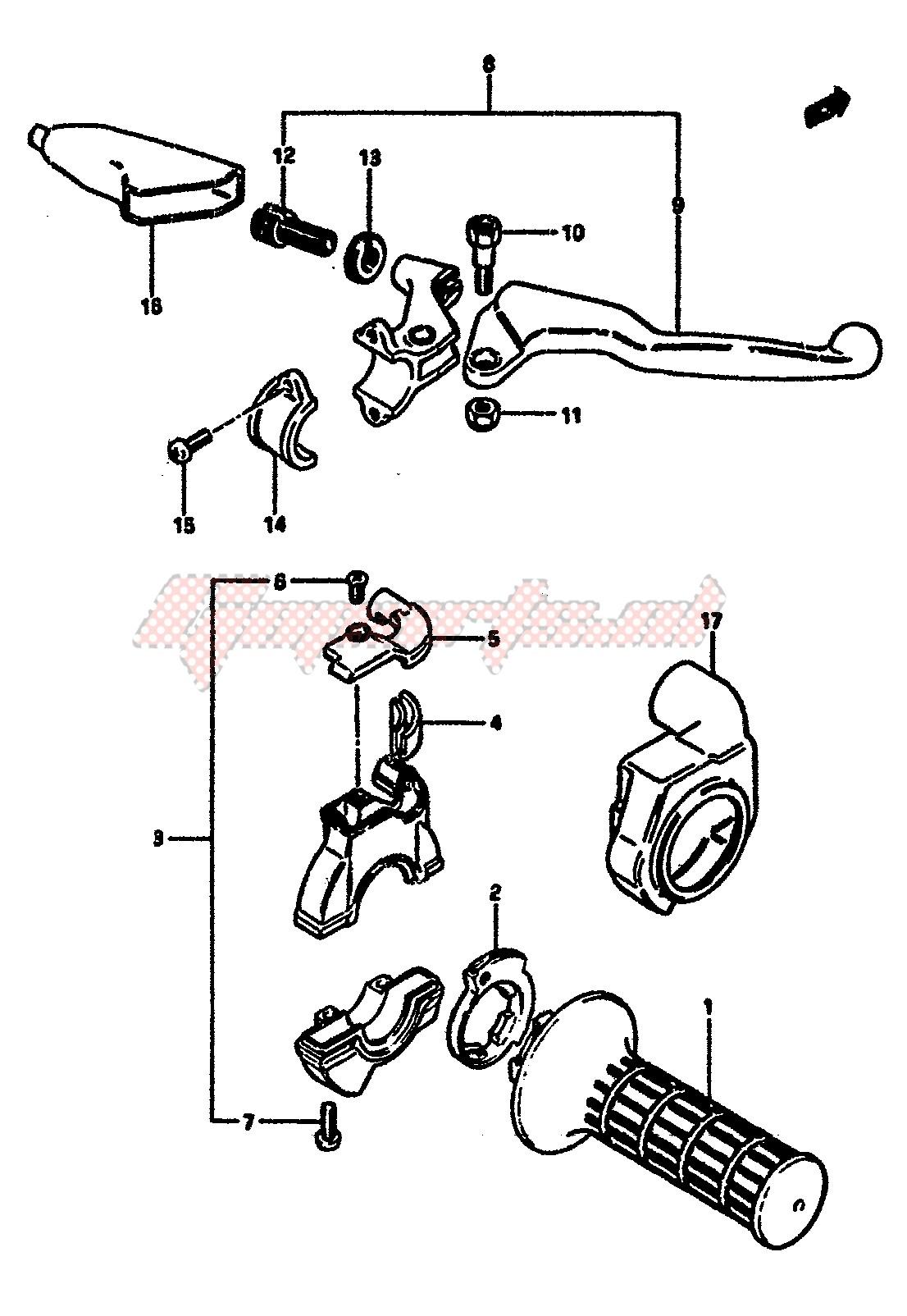 RIGHT HANDLE SWITCH (MODEL E) blueprint