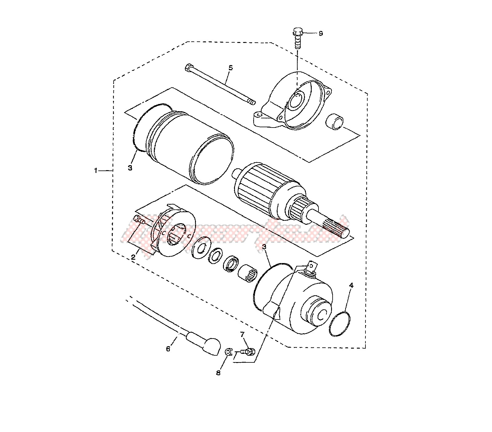 STARTING MOTOR blueprint