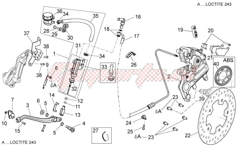 Rear brake system I image