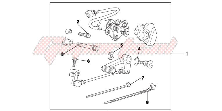 KIT,DCT PEDAL SHI blueprint
