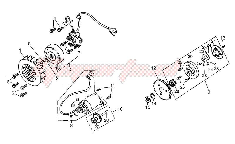 Flywheel-Syarter motor image