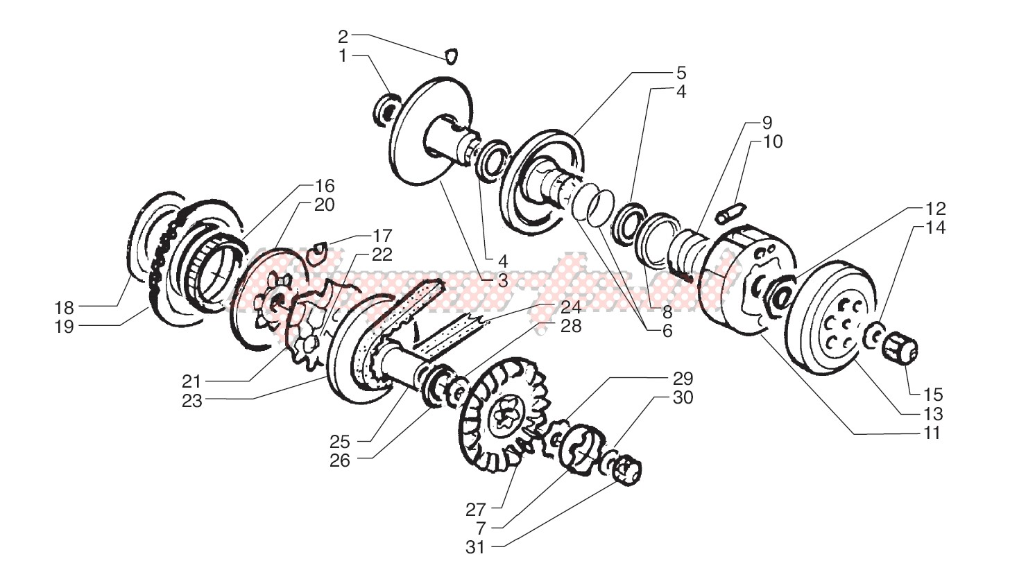 -Driving pulley - Driven Pulley