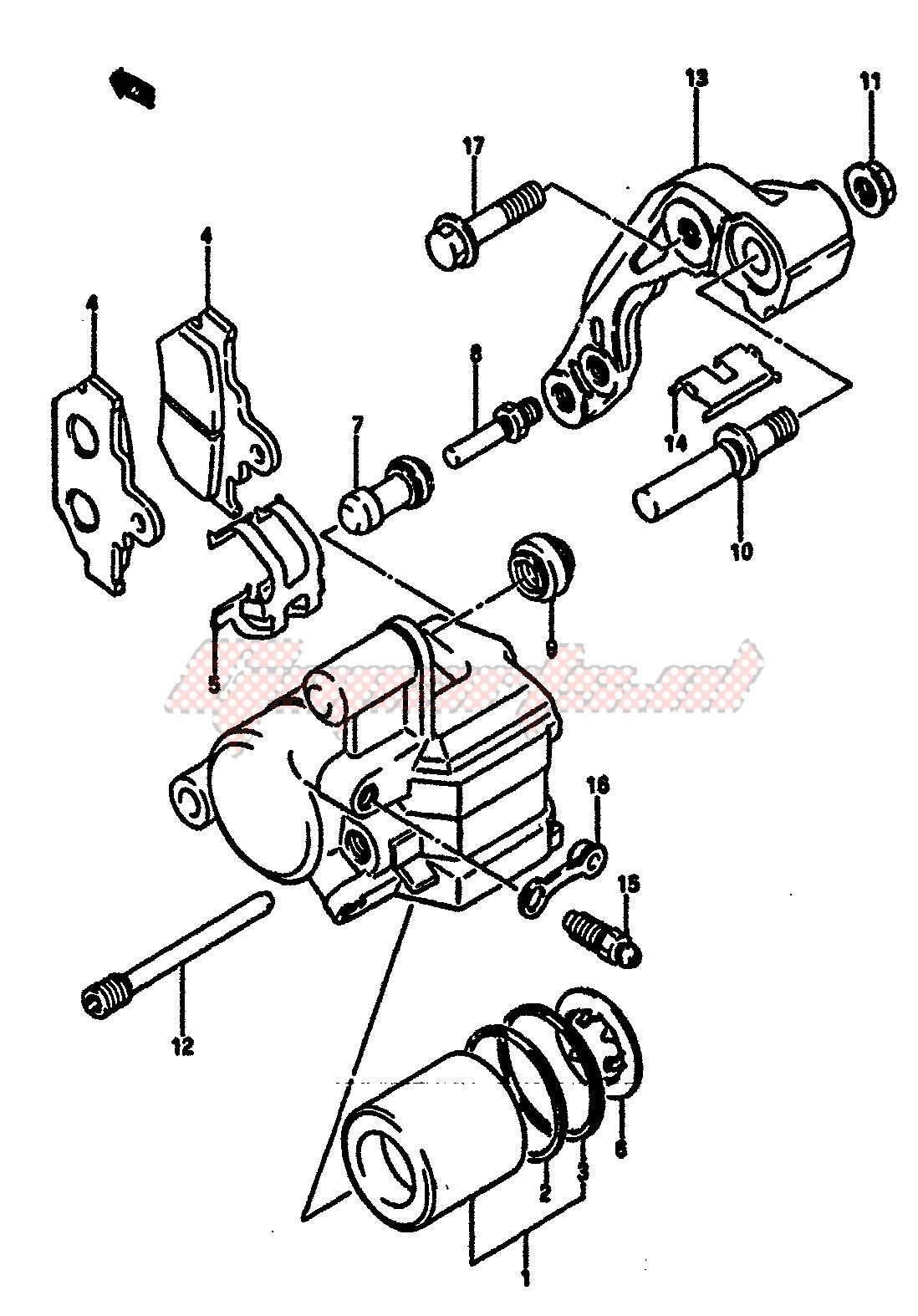FRONT CALIPER (MODEL F) image
