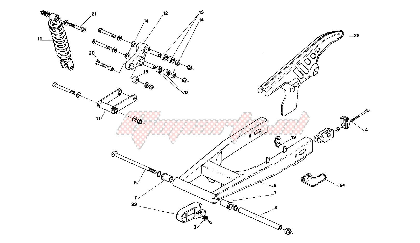 Rear swing arm image