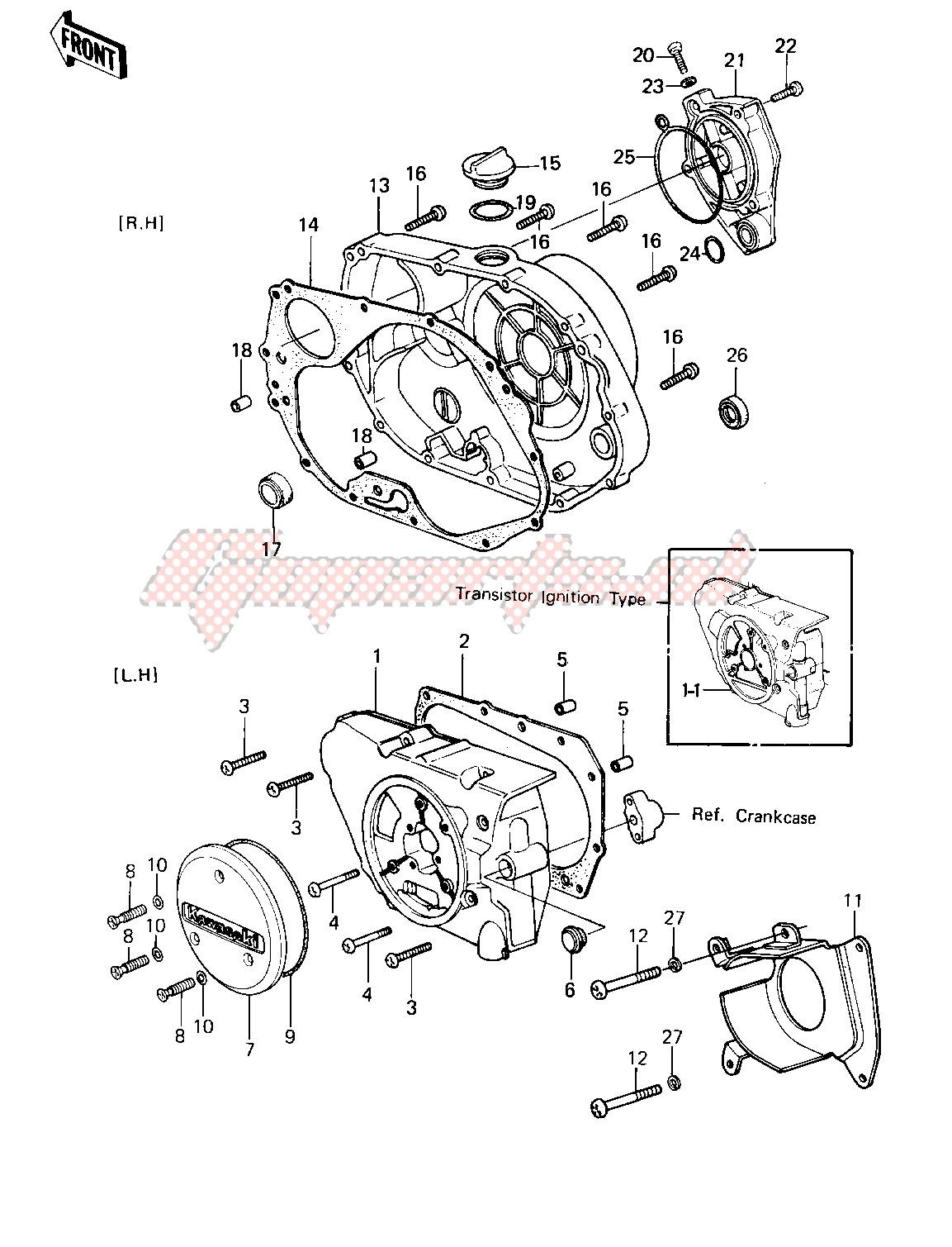 ENGINE COVERS -- 81-82 KLT200-A1_A2_A3- - image