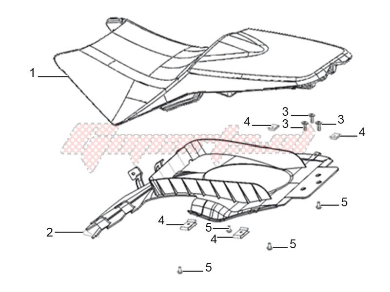 Saddle and rear fender image