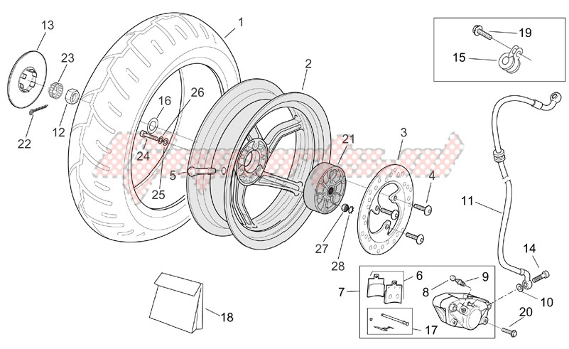 Suspensions - Wheels-Rear wheel - disc brake