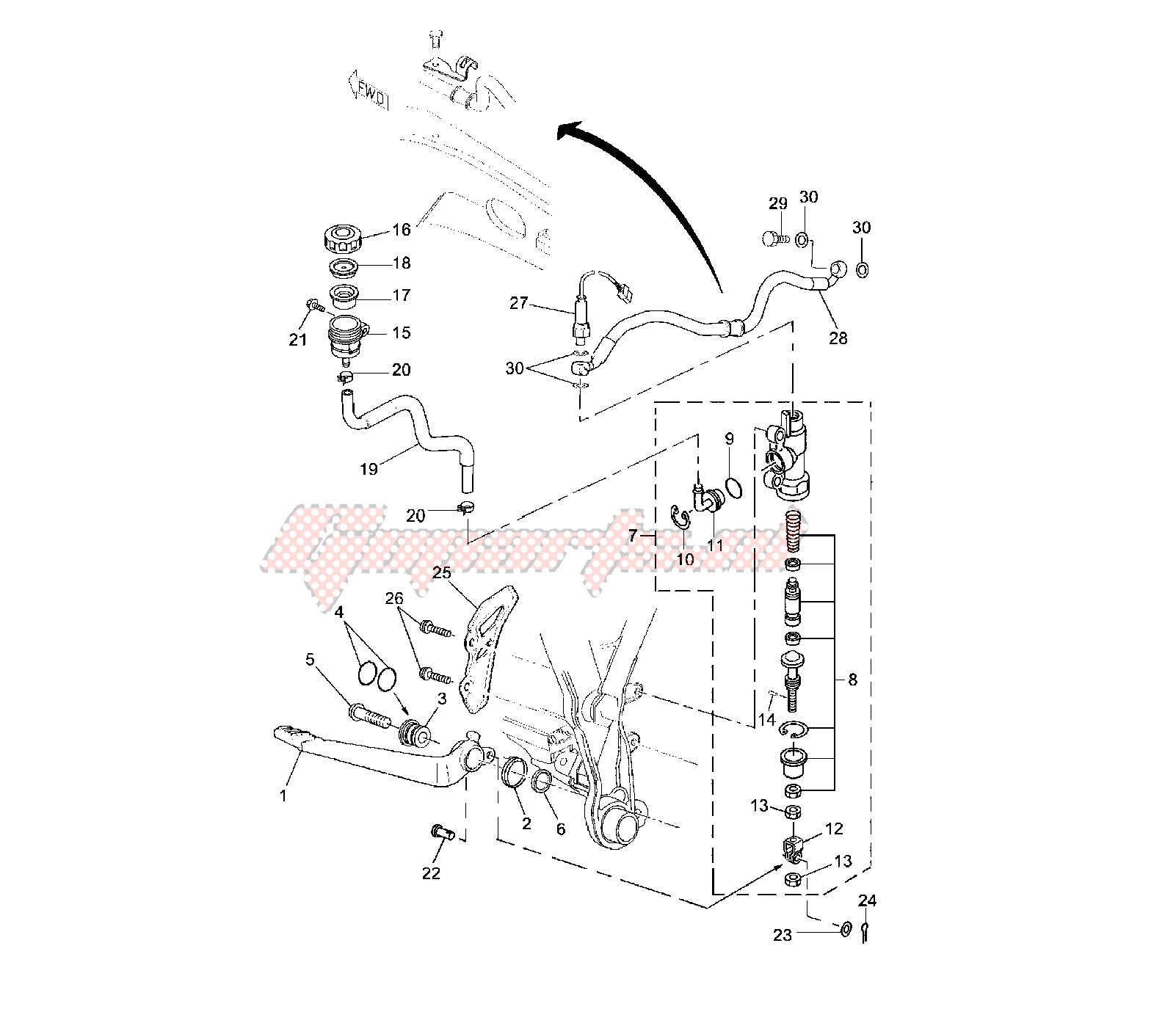 OEM parts Yamaha [Motorcycle] DT R - DT X 50 / 2006 | Goparts
