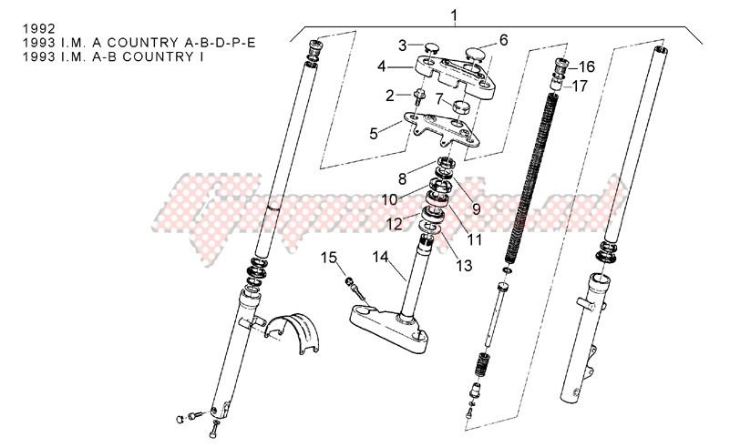 Front fork 92-93 - Stem image