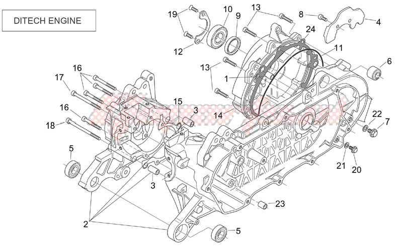 Engine-Crank-case (Ditech)