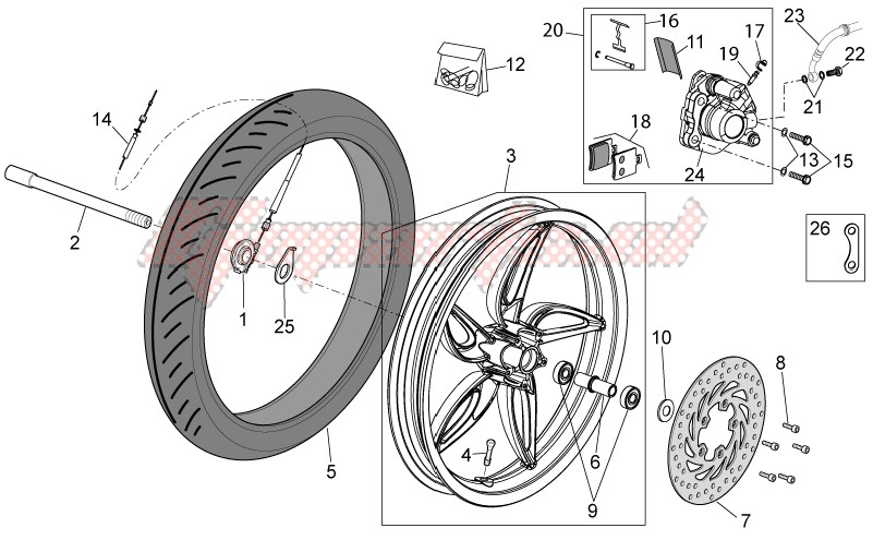 Front wheel - disc brake image