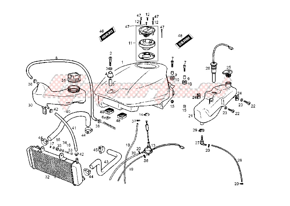 FUEL AND OIL TANK image