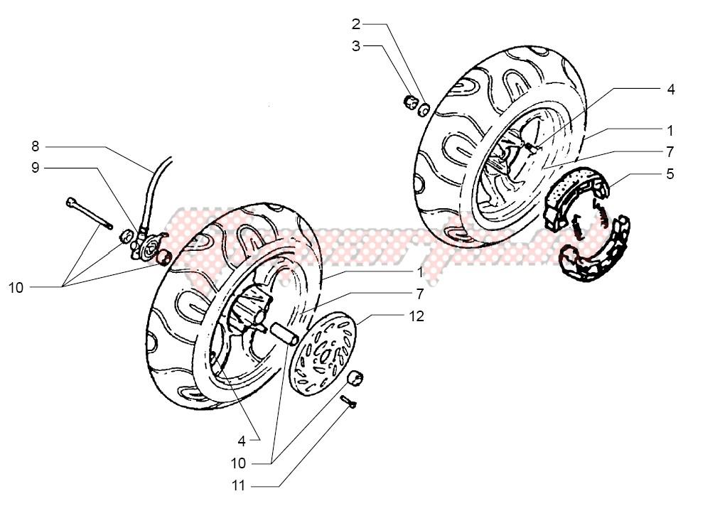 Front wheel-Rear wheel image