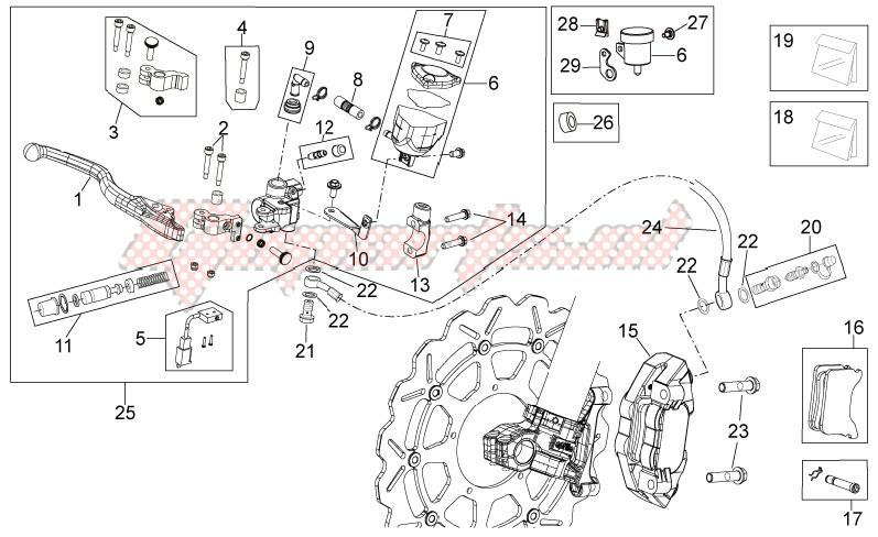 Front brake system image
